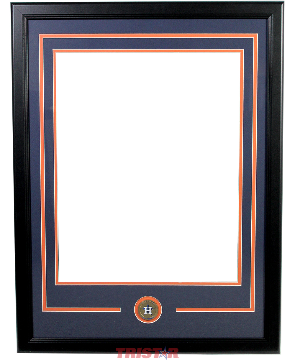 16x20 Double Matted Framing with Houston Astros Coin