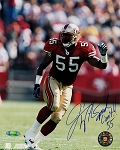 Jamie Winborn Autographed San Francisco 49ers 8x10 Inscribed Speed Limit 55