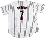 Craig Biggio Unsigned Houston Astros Replica Pinstripe Jersey