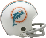 Miami Dolphins Throwback 2-Bar Mini Helmet