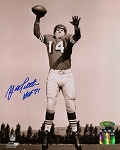 YA Tittle Autographed San Francisco 49ers 8x10 Photo Inscribed HOF 71