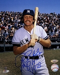Ron Blomberg Autographed Yankees 8x10 Photo Inscribed 1st DH 4/6/73