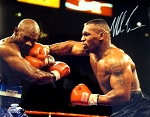 Mike Tyson Autographed Boxing vs Holyfield 8x10 Photo