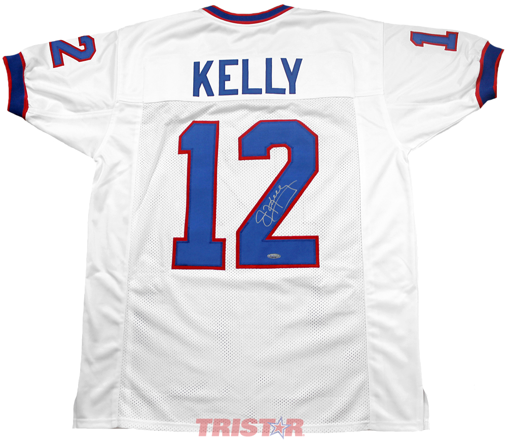 c6bff8f54d8 Jim Kelly Autographed Buffalo Bills Custom White Jersey