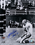 Y.A. Tittle Autographed New York Giants 8x10 Photo Inscribed HOF 71