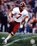 Joe Theismann Autographed Washington Redskins 8x10 Photo Inscribed 83 NFL MVP