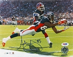 Ashley Lelie Autographed Denver Broncos Diving 8x10 Photo