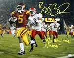 Reggie Bush Autographed USC Trojans 16x20 Photo 513 YDS 11/19/05