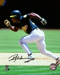 Rickey Henderson Autographed Oakland A's 8x10 Photo