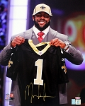 Mark Ingram Autographed New Orleans Saints Draft Day 16x20 Photo