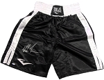 Mike Tyson Autographed Everlast Black Boxing Trunk