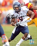 Antoine Cason Autographed Arizona Wildcats Running 8x10 Photo