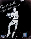 Jon McGlocklin Autographed Milwaukee Bucks 8x10 Photo Inscribed 1971 NBA Champs