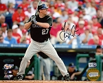 Garrett Atkins Autographed Colorado Rockies 2007 NLDS 8x10 Photo