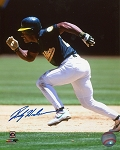 Rickey Henderson Autographed Oakland A's 16x20 Photo