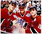 Vincent LeCavalier, Brad Richards & Martin St. Louis Autographed Canada 8x10 Photo
