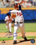 Tom Glavine Autographed Atlanta Braves 8x10 Photo Inscribed HOF 2014
