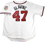 Tom Glavine Autographed Atlanta Braves Jersey Inscribed HOF 2014