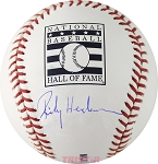 Rickey Henderson Autographed Official Hall of Fame Logo Baseball