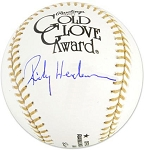 Rickey Henderson Autographed Official Gold Glove Baseball