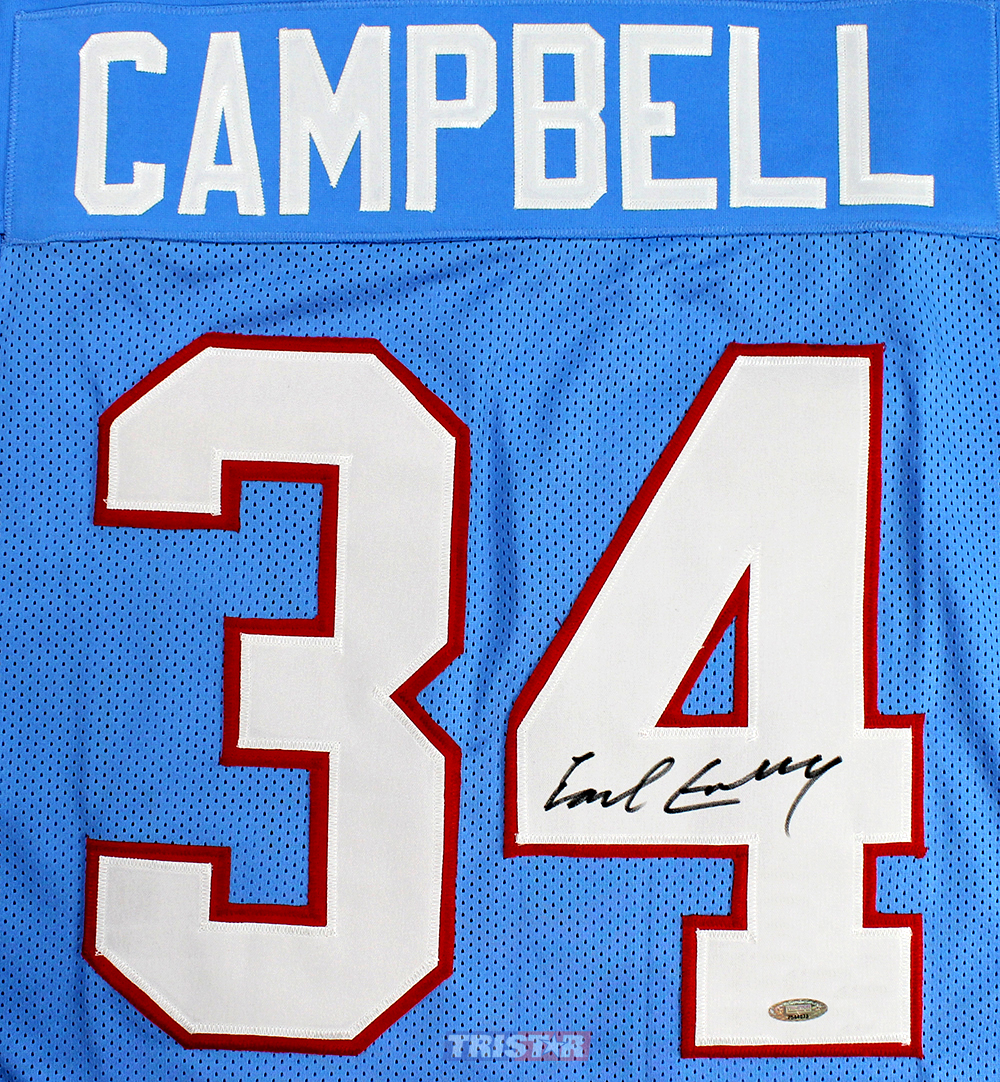 Earl Campbell Autographed Houston Oilers Custom Blue Jersey ed5f316ea