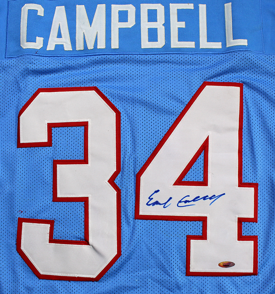 f6b6144574e Earl Campbell Autographed Houston Oilers Stat Jersey