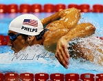 Michael Phelps Autographed USA Swimming 16x20 Photo