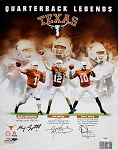 Young, McCoy & Applewhite Autographed UT Longhorn Legends 16x20 Photo