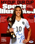 Carli Lloyd Autographed USA Sports Illustrated Cover 8x10 Photo