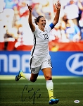 Carli Lloyd Autographed USA 2015 World Cup Celebrating 16x20 Photo