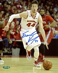 Frank Kaminsky Autographed Wisconsin Badgers 8x10 Photo