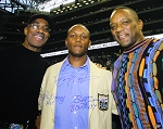 Barry Sanders, Lem Barney, & Billy Sims Autographed Lions 16x20 Photo