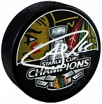Andrew Shaw Autographed Blackhawks 2013 Stanley Cup Champs Puck