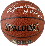 Dominique Wilkins Autographed Spalding I/O NBA Basketball Inscribed HOF 06