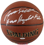 Dominique Wilkins Autographed Spalding I/O NBA Basketball Human Highlight Film