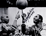 Meadowlark Lemon Autographed Harlem Globetrotters 8x10 Photo Inscribed HOF 2003