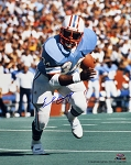 Earl Campbell Autographed Houston Oilers Running 16x20 Photo