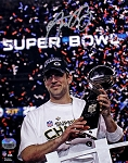 Aaron Rodgers Autographed Green Bay Packers Super Bowl XLV Trophy 8x10 Photo