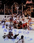 1980 USA Hockey Team Autographed Mircale On Ice 16x20 Photo - 19 Signatures