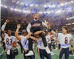 1985 Bears Team Autographed Super Bowl XX 16x20 Photo with 28 Signatures