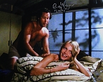 Cindy Morgan Autographed Caddyshack On Bed w/Chase 16x20 B&W Photo Inscribed Lacey