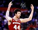 Frank Kaminsky Autographed Wisconsin Badgers Arms Up 16x20 Photo