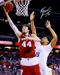 Frank Kaminsky Autographed Wisconsin Badgers vs Okafor 16x20 Photo