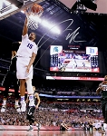 Jahlil Okafor Autographed Duke Final Four Slam Dunk 16x20 Photo