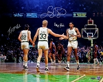 Larry Bird, Robert Parish & Kevin McHale Autographed Boston Celtics 16x20 Photo