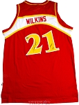 Dominique Wilkins Autographed Atlanta Hawks Adidas Jersey Inscribed HOF 06
