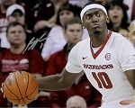 Bobby Portis Autographed Arkansas Razorbacks Crazy Eyes 8x10 Photo
