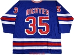 Mike Richter Autographed Rangers Custom Jersey Inscribed 94 Cup Champs