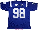 Robert Mathis Autographed Indianapolis Colts Custom Jersey