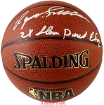 Dominique Wilkins Autographed Spalding I/O NBA Basketball 2x Slam Dunk Champ